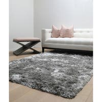 Brilliance Grey Shag Area Rug by Greyson Living - 5' x 8'
