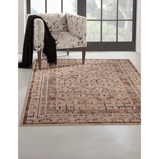 """Channing Natural/Ivory/Brown Area Rug by Greyson Living - 5'3"""" x 7'9"""""""