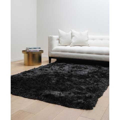 Brilliance Charcoal Shag Area Rug by Greyson Living - 5' x 8'