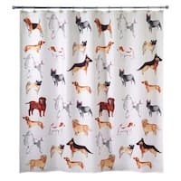 Dogs On Parade Shower Curtain