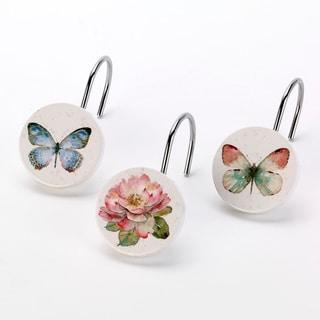 Butterfly Garden Shower Hooks