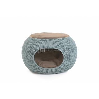 Keter KNIT Cozy Pet Home for Cats and Small Dogs (Option: Blue)