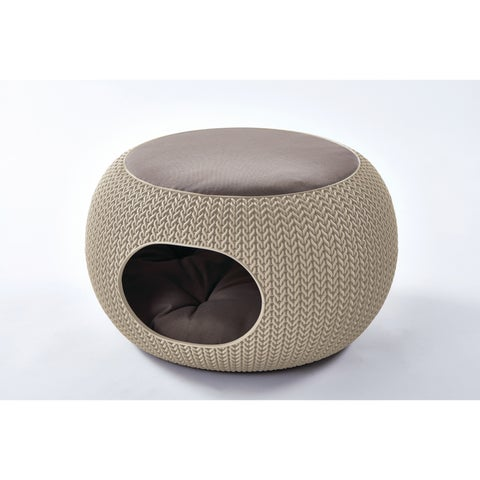 Keter KNIT Cozy Pet Home for Cats and Small Dogs