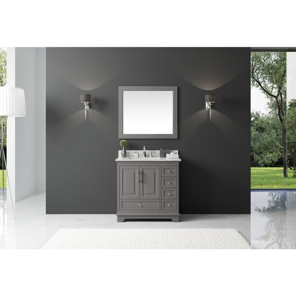Shop Exclusive Heritage Taupe Grey Wood Inch Singlesink Bathroom - 36 inch grey bathroom vanity