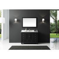 Exclusive Heritage Espresso 48-inch Single Sink Bathroom Vanity With Carrara White Marble Top