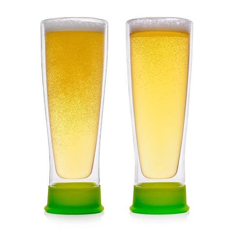 Epare Insulated Beer Drinking Glasses - 2 Double Wall Tumbler Mug