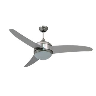 """HomeSelects Contempo 52"""" Ceiling Fan - Silver"""