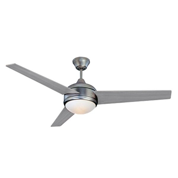 Homeselects 2060 Contempo 52 Ceiling Fan With Pull Chain Silver