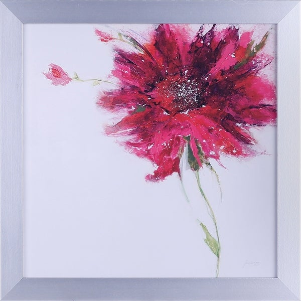 20.75X20.75 Pink Daisy, floral framed paper wall art