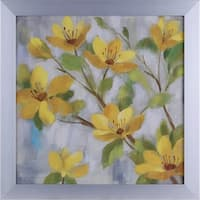 20.75X20.75 Golden Bloom I, floral framed paper wall art