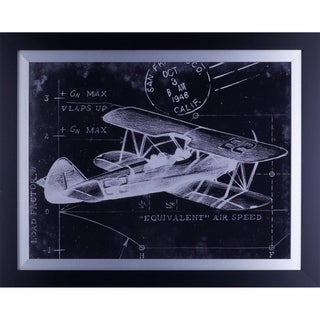 22.75X28.75 Flight Schematic I, framed wall art