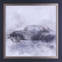 21.5X21.5 Vintage Car, framed paper wall art