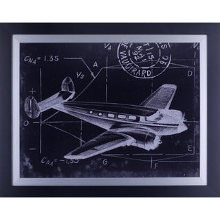 22.75X28.75 Flight Schematic IV, framed wall art