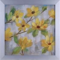 20.75X20.75 Golden Bloom II, floral framed paper wall art