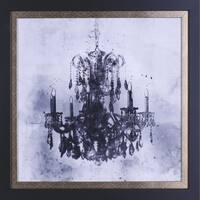 21.5X21.5 Chandelier, framed paper wall art