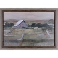 28X40 Rural sunset II, framed paper wall art