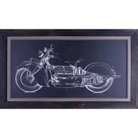 25.25X43.25 Motorcycle Graphic I, framed art