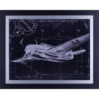 22.75X28.75 Flight Schematic II, framed wall art