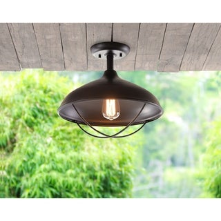 "Design Craft Clayton 13.38"" Oil Rubbed Bronze 1 Light Semi-Flush Mount"
