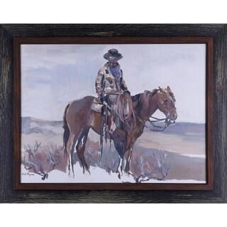 30.5X38.5 Western Rider, Figurative framed paper wall art