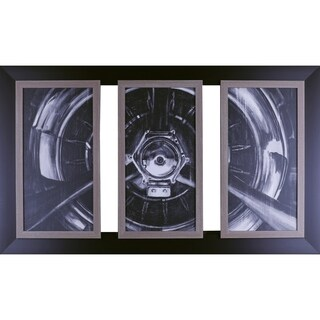 53.5X31.5 Vintage propeller I,II,III, framed art