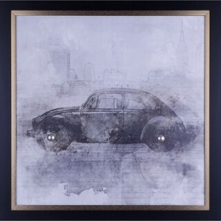 34X34 Vintage Car, Framed vintage wall art