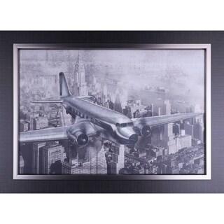 25.25X37.25 Vintage Plane, Framed paper wall art