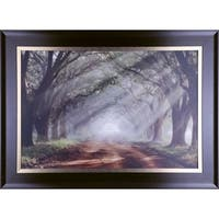30.50X43.50 Evergreen Plantation, Framed paper wall art