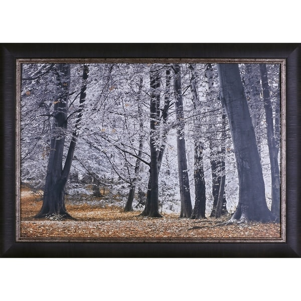 29.5X41.5 Autumn Trees and Leaves, Framed paper wall art