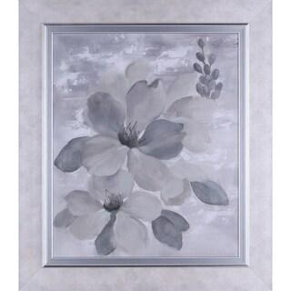 32.75X28.75 Neutral Floral I, Framed paper wall art
