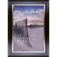 30.50X43.50 Dune fence at sunrise, Framed paper wall art