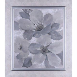 32.75X28.75 Neutral Floral II, Framed paper wall art
