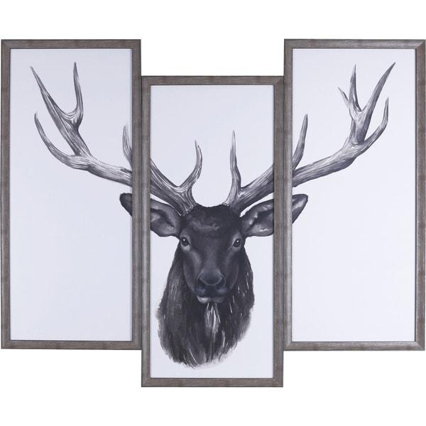 Shop 38X47 Deer Head Tri-pack, Framed paper wall art - Free Shipping ...