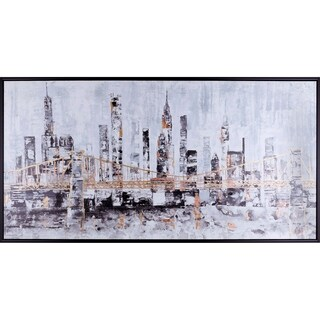 31.25X61.25 Golden City, landscape canvas wall art with acrylic finish