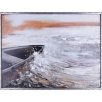 31.25X41.25 Splash, Framed landscape canvas wall art