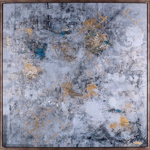 31.25X31.25 Luxe, Framed Acrylic canvas abstract wall art