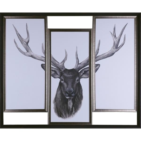 38.5X47.87 Deer Head Tri-pack, Framed paper wall art - Free Shipping ...