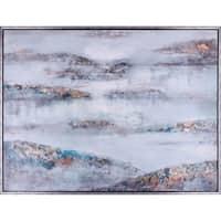37.25X49.25 Clouds, Framed canvas acrylic wall art