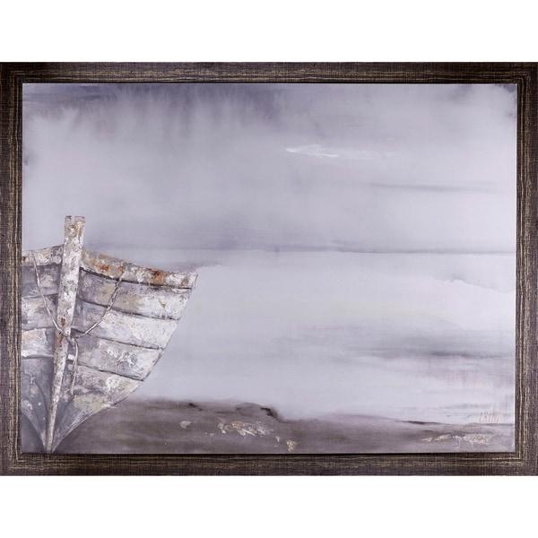 40.50X52.50 Misty Day, Framed canvas acrylic wall art