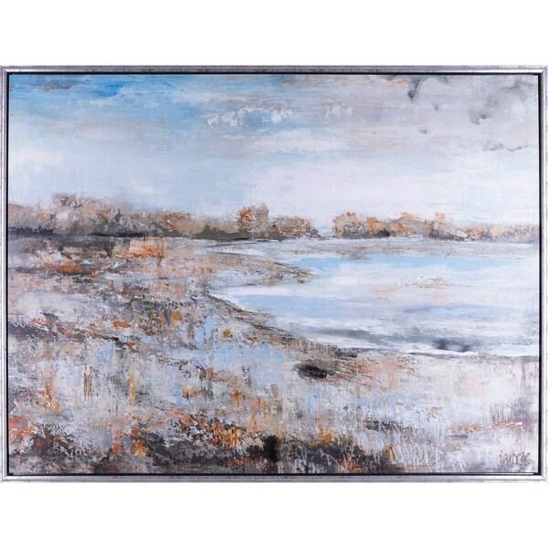 37.25X49.25 Water meets land, canvas wall art