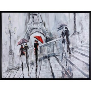 31.25X41.25 Taking it in, Framed acrylic figurative wall art