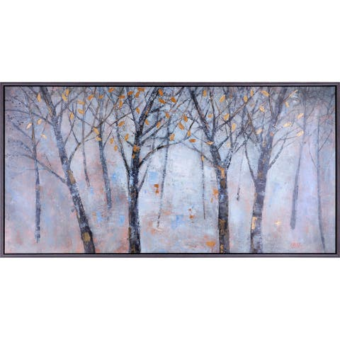 31.25X61.25 Autumn Rhythm Landscape Framed Canvas Wall Art with Acrylic Finish Abstract Decor Brown Yellow Home Office Large XL