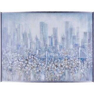 30.75X40.75 City of Motions, Framed acrylic canvas wall art