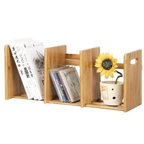 Furinno FNCL-33021 Bamboo Extesion Book Rack, Natural