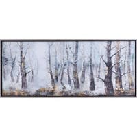 51.60X21.60 Into the forest, Framed canvas acrylic wall art