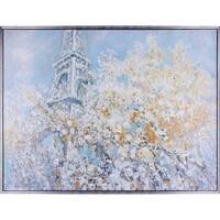 37.25X49.25 Breath of fresh air, Framed acrylic canvas wall art