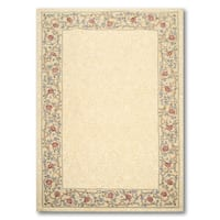 Traditional Country Cottage Multicolor Wool Floral Hand-hooked Area Rug (5'6 x 8'6)
