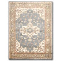 Multicolor Pure Wool Traditional Heriz Persian Oriental Area Rug - 6' x 9'
