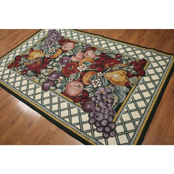 Nature X27 S Bounty Rustic Country Cottage Hand Hooked Area Rug