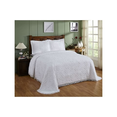 Wedding Ring Chenille Bedspread